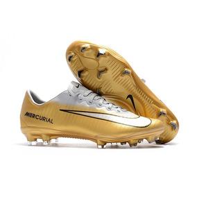 Chuteira Nike Mercurial Cr7 Dourada A Mais Linda De Todas ... a80a4580481ad