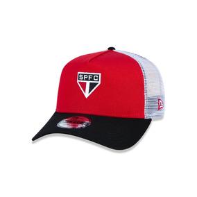 Bone 940 Sao Paulo Futebol Aba Curva Vermelho preto New Era 334d4aa3cf5