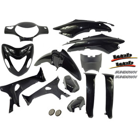 Kit Carenagem Preto Sundown Web 100 Original - 13 Peças