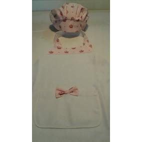 Kit Mini Chef Avental Com Touca Infantil R$24,99 Menina
