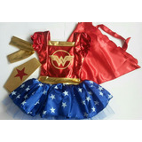 Disfraz Disfraces Niña Mujer Maravilla Tutu Wonder Woman Cos