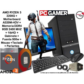 Pc Gamer Amd Ryzen 3 2200g+ 8gb+ 1tb+mouse+teclado+parlantes