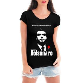 Camiseta Bolsonaro Presidente 2019 Mito Blusa Honra Feminina