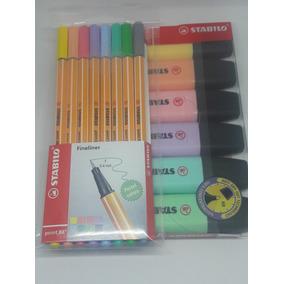 Stabilo Boss C/6 Cores Pastel + Point 88 C/8 Cores Pastel