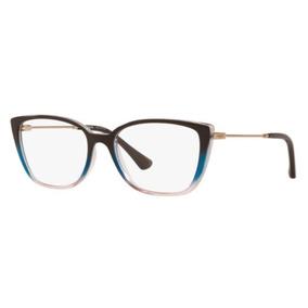 55ba87aa90f18 Armação Oculos Grau Vogue Vo5249 2664 52 Marrom Degradê Azul. R  239