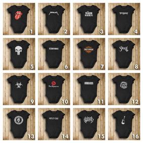 Ropa Para Bebés - Pañalero Rockero Metal Rock - 80 Modelos!