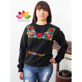 Sudadera Suéter Artesanal Mexicano Bordado A Mano Típico. 2 colores f719cac5d7d3