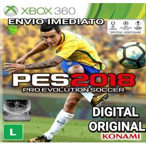 Pes 2018 Pes2018 Xbox 360 Digital Original Narração Ptbr