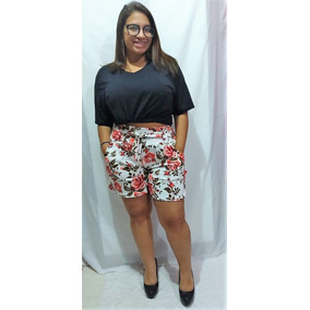 Shorts Plus Size Listrados Moda Instragan 2019