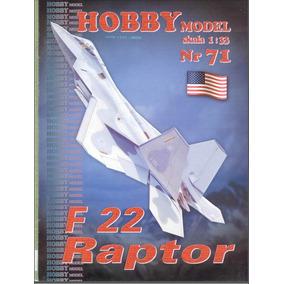 (maquete) F 22 Raptor Papercraft Cortar Colar E Montar