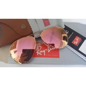 b76daed8f81c0 Ray Ban Aviador 3025 Dourado Lente Rosa Degrade Fosco - Óculos no ...
