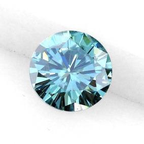 Moissanita Azul Mas Brillante Que El Diamante 0.27 Ct 4.30mm