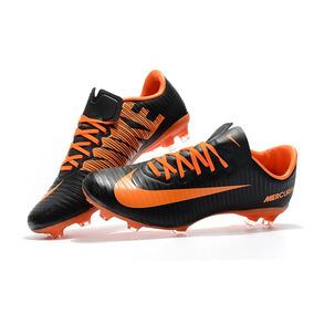 b1aee76b3f Chuteira Nike Mercurial Glide Azul laranja C  Cravo - Chuteiras para ...