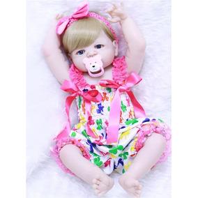 e4ae8f6a1 Bebê Reborn Pronta Entrega Menina Loira Corpo Silicone