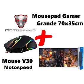 Mouse Gamer V30 + Mousepad Gamer Grande Assasin Creed Lol Pb