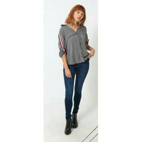 1b9c97013e5a2 Camisa Lady Rock - Camisa Casual Manga Longa Feminino no Mercado ...