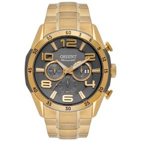 Relógio Orient Masculino Dourado Cronógrafo Mgssc015 Origina