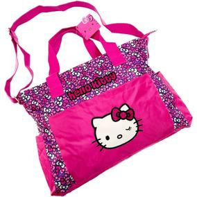 ac9a0b157 Bolsa Hello Kitty Amplia, Tipo Pañalera, Correas Ajustables