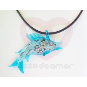 Collar De Cristal Pez Vela Marlin Accesorio Moda Playa Y Mar