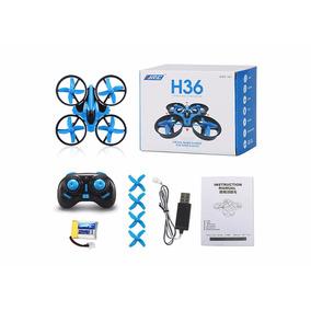 Jjrc H36 Drone Mini Con Protección Para Niños En Gris Y Azul