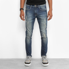 8223686b42 Cal A Cavalera Jeans Rasgada Masculina - Calçados