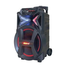 Caixa Amplificada Amvox Aca 501 New Led Bluetooth
