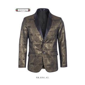 Saco Premium Para Caballero Marca Pavini Dorado/negro Pb094
