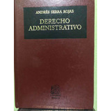 Libro Derecho Administrativo De Andres Serra Rojas