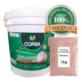 Óleo De Coco Extra Virgem Copra 3,2l + Sal Himalaia 1kg