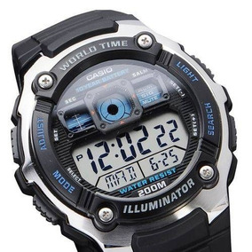 Ae-2000w 1av Relógio Casio Série Mundial Bateria 10anos 200m
