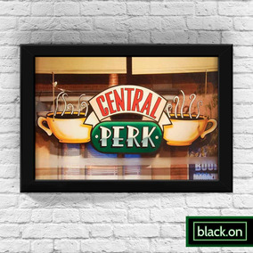 Poster A4 Quadro Moldura Central Perk Tv Friends 30x20cm #6