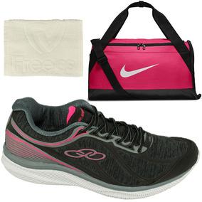 386b67323836b Kit Fitness Feminino Tênis Olympikus 422+ Bolsa Nike+ Toalha