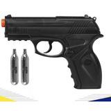 Pistola Airsoft Rossi Co2 Win Gun C11 Semi Metal + Brinde