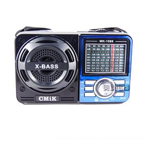Radio Portatil Am/fm/sw Entrada Usb Cartao Sd Pen Drive Mp3