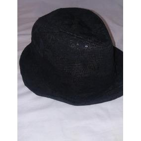 Sombrero Negro Con Aplique Brillantes 100% Polyester 618931aab6e