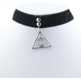 Gargantilha Chocker Veludo Harry Potter Relíquias Da Morte