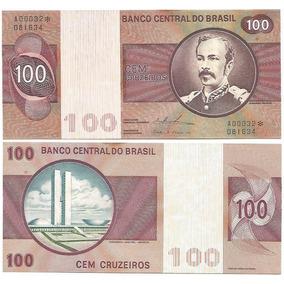 Cédula 146c 100 Cruzeiros 1973 Asterisco Série 32 Fe