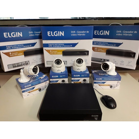 Kit Câmeras De Segurança Residencial Acesso Internet 4in1 Hd