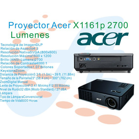 Video Beam Acer X1161p 3d-dlp Projector Nuevo Original