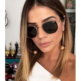 Óculos Feminino Hexagonal Várias Cores Proteção Uv400 Case a92fc420e9533