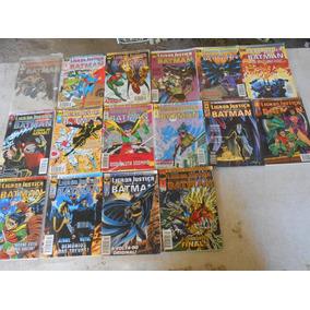 16 Gibi Liga Da Justiça E Batman Nº 1 Ao 3 + 13 Nºs Anos 90