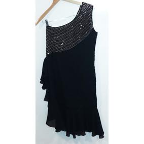 Vestido negro bordado con lentejuelas
