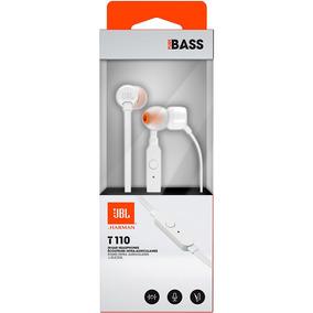 Fone De Ouvido Jbl T110 Branco - Pure Bass In Ear