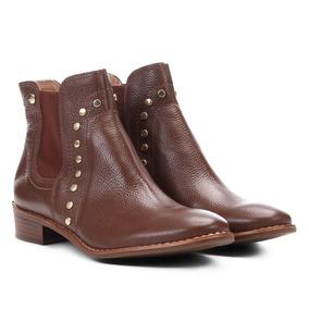 e5ac76c5a Bota Chelsea Moleca Tachas Marrom - Sapatos no Mercado Livre Brasil
