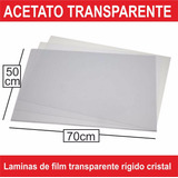 Acetato Laminas De 50x70cm Planchas Cristal Transparente