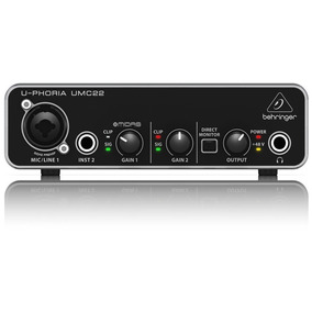 Interface De Áudio 2 Canais Behringer Umc22 Garantia 2 Anos