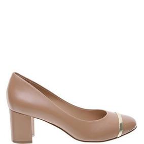 66083f66f Scarpin Arezzo Bege Salto Madeira Nr 35 Novo Feminino - Sapatos no ...