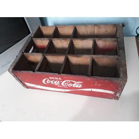 Caixa Antiga De Madeira Da Coca-cola Ano 77