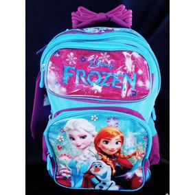 Kit Mochila Infantil Escolar De Rodinha Da Frozen