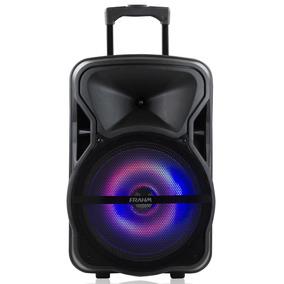 Caixa Som Frahm 600w Bluetooth Usb Bateria Microfone Cm600bt